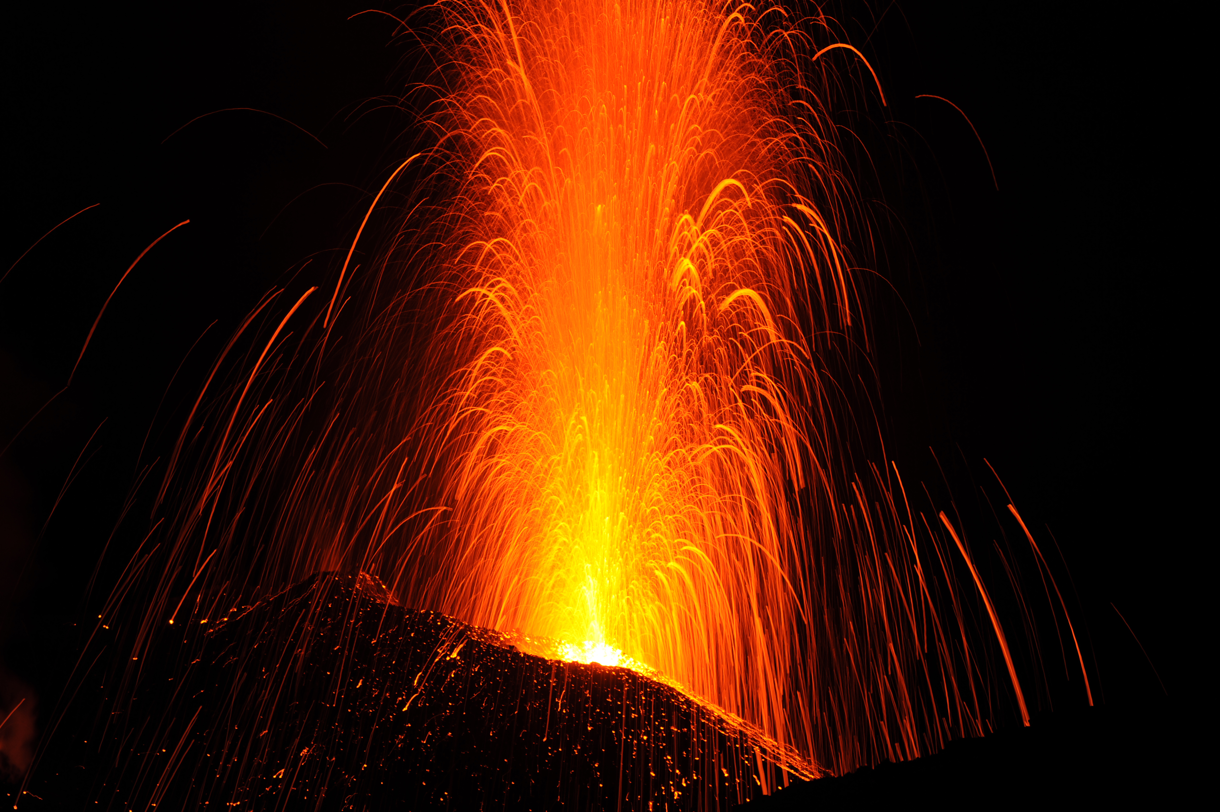 Descriptions of the eruption of one of the volcanoes of the 21 century